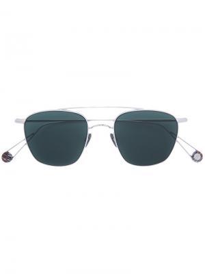 Солнцезащитные очки в квадратной оправе Ahlem. Цвет: металлический