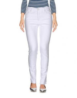 Джинсовые брюки DON'T CRY. Цвет: белый