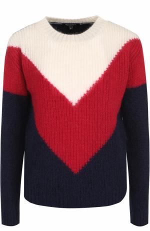Пуловер прямого кроя с круглым вырезом Tara Jarmon. Цвет: разноцветный