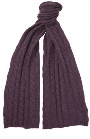 Шарф фактурной вязки из кашемира Kashja` Cashmere. Цвет: фиолетовый