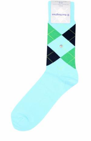 Хлопковые носки King Burlington. Цвет: светло-голубой