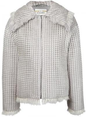 Тканая куртка с бахромой Iris Van Herpen. Цвет: серый