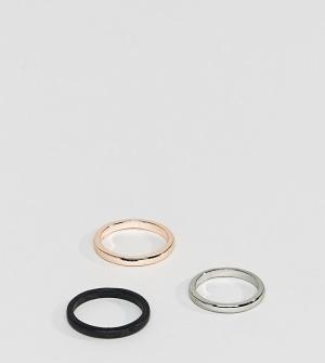DesignB London 3 кольца эксклюзивно для ASOS. Цвет: мульти