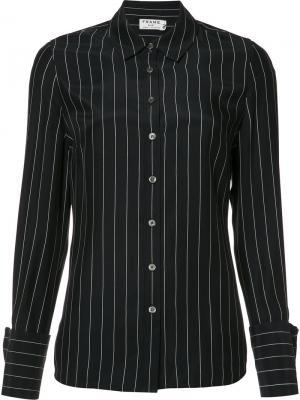 Рубашка в тонкую полоску Frame Denim. Цвет: синий