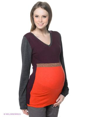 Пуловер ESPRIT. Цвет: серый, фиолетовый, красный