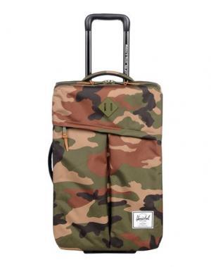 Чемодан/сумка на колесиках HERSCHEL SUPPLY CO.. Цвет: зеленый-милитари