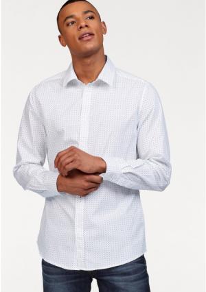 Рубашка BRUNO BANANI. Цвет: белый в горох