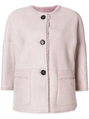 Buttoned jacket Desa Collection. Цвет: розовый и фиолетовый