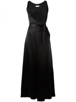 Платье с завязкой на талии Attico. Цвет: чёрный