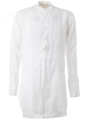 Удлиненная рубашка с необработанными краями Greg Lauren. Цвет: белый