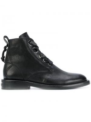 Laureen Roma combat boots Zadig & Voltaire. Цвет: чёрный