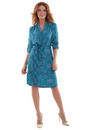 Платье MY STYLE. Цвет: сине-зеленый