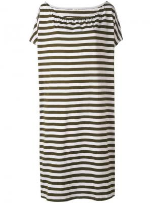 Платье в полоску Apuntob. Цвет: зелёный