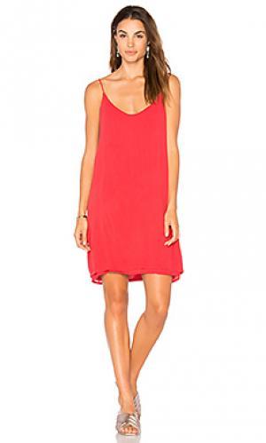 Платье-майка chance Michael Lauren. Цвет: красный