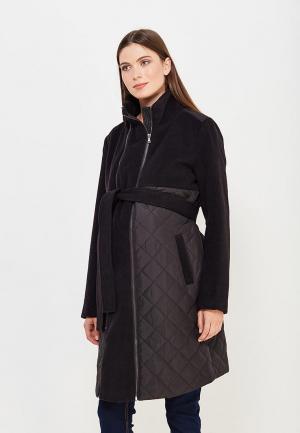 Пальто Mamalicious. Цвет: черный