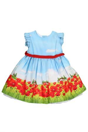 Платье Monnalisa. Цвет: мультицвет