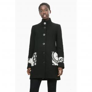 Пальто длинное с рисунком, Abrig Malta DESIGUAL. Цвет: черный