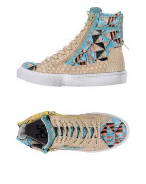 Высокие кеды и кроссовки 2STAR. Цвет: бежевый