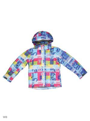 Куртка High Experience. Цвет: синий, желтый, лиловый