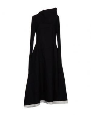 Длинное платье NOSTRASANTISSIMA. Цвет: черный
