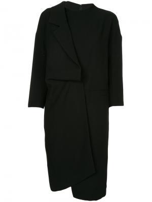 Платье с лацканом Enföld. Цвет: чёрный