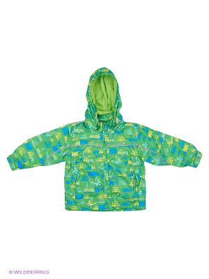 Куртка M&DCollection. Цвет: зеленый, светло-зеленый, голубой