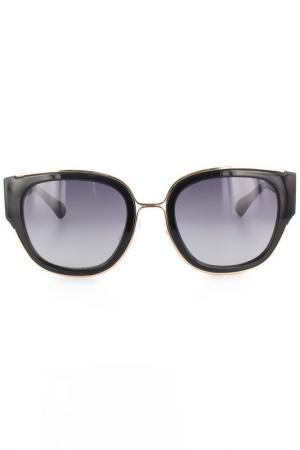 Очки солнцезащитные DVF. Цвет: черный