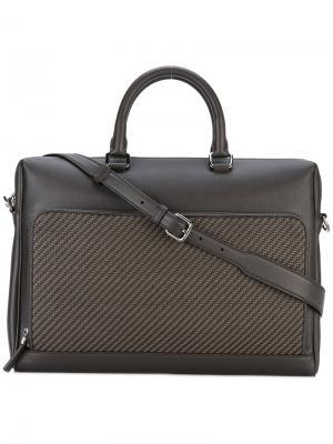 Классическая сумка для ноутбука Ermenegildo Zegna. Цвет: коричневый