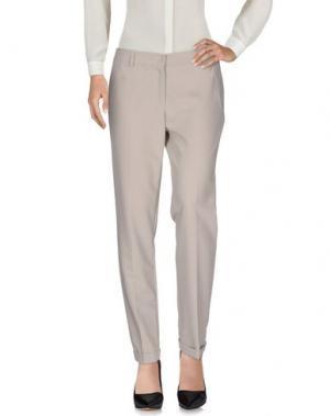 Повседневные брюки ELISA LANDRI. Цвет: светло-серый