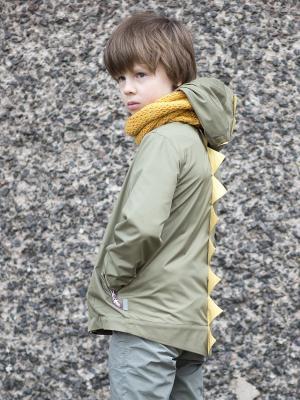 Куртка Завр Sardina Baby. Цвет: оливковый, желтый