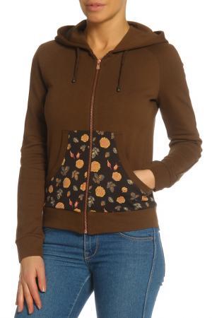 Куртка спортивная Анна Чапман. Цвет: коричневый