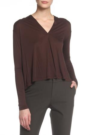Блуза Caractere. Цвет: коричневый