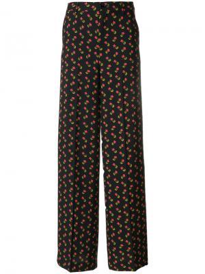 Широкие брюки с цветочным принтом Essentiel Antwerp. Цвет: многоцветный