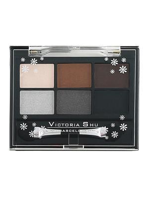 Тени для век ALL FOR EYES № 462 Victoria Shu. Цвет: темно-серый, коричневый