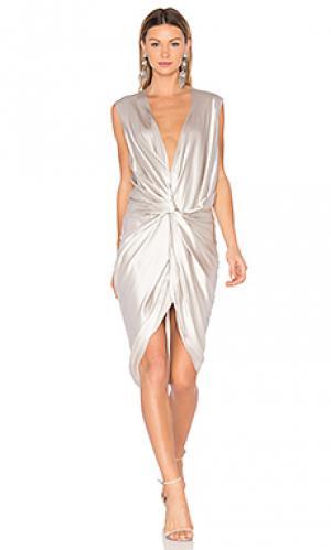 Платье elana One Fell Swoop. Цвет: металлический серебряный