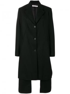 Многослойное однобортное пальто Aalto. Цвет: чёрный