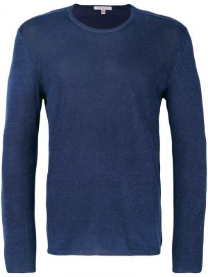Тонкий свитер John Varvatos. Цвет: синий