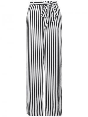 Широкие брюки в полоску Frame Denim. Цвет: белый