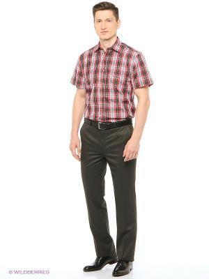 Рубашка мужская с коротким рукавом в клетку Mr. Marten. Цвет: красный