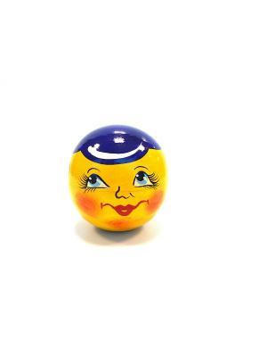 Неваляшка музыкальная -  Колобок в синей кепке Taowa. Цвет: желтый, синий