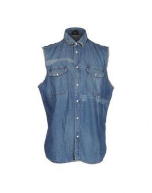 Джинсовая рубашка JUST CAVALLI. Цвет: синий
