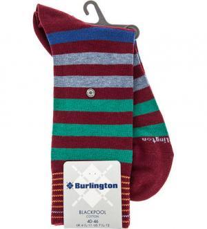 Хлопковые носки в полоску Burlington. Цвет: полоска