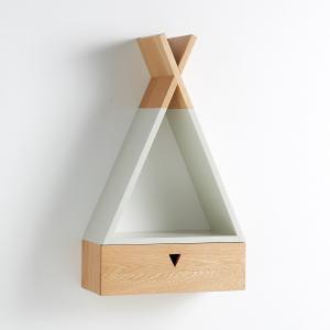 Тумба-шкафчик в форме индейского типи  из массива дуба, Pikiti AM.PM.. Цвет: серый