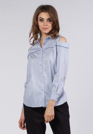 Рубашка OKS by Oksana Demchenko. Цвет: голубой