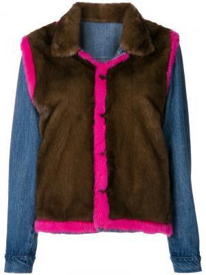 Куртка Jeans Simonetta Ravizza. Цвет: коричневый