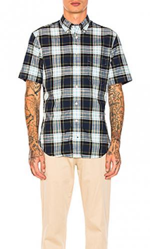Рубашка на пуговицах Gitman Vintage. Цвет: синий