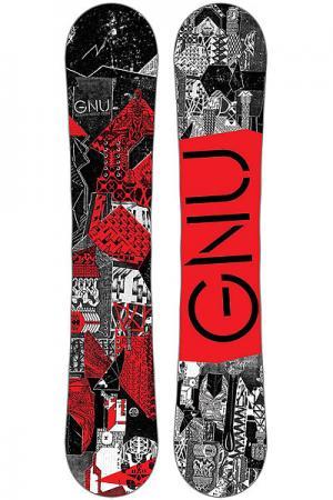Сноуборд  Crbn Crdt Btx Red Ast GNU. Цвет: черный,белый,красный
