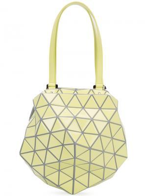 Geometric structured shoulder bag Bao Issey Miyake. Цвет: жёлтый и оранжевый