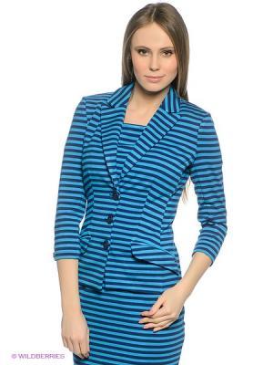 Пиджак Finn Flare. Цвет: лазурный, темно-синий