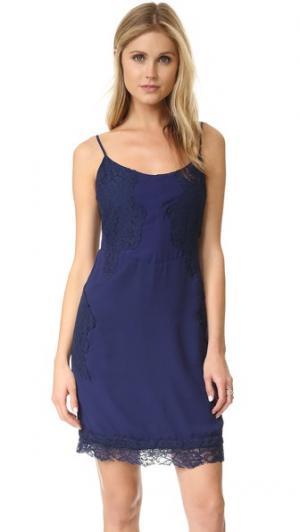 Платье Lola с кружевной отделкой Yumi Kim. Цвет: темно-синий
